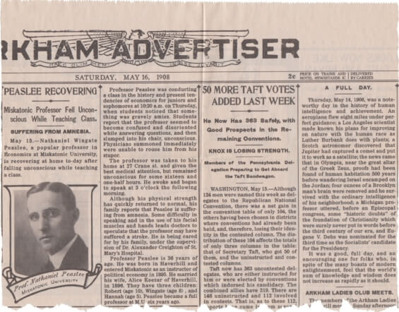 HPLHS - Arkham Advertiser, May 16 1908
