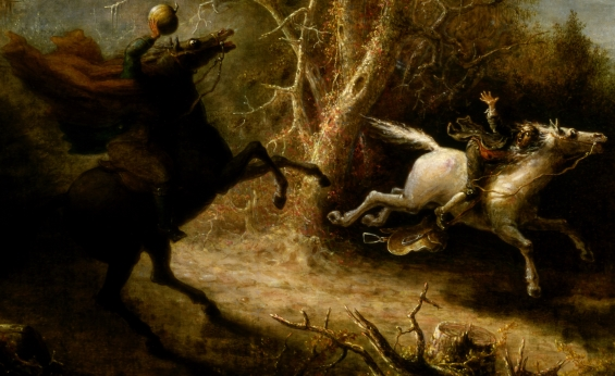 The Headless Horseman and Ichabod Crane