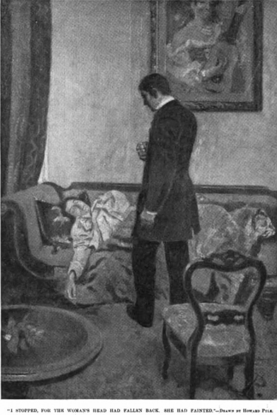 Howard Pyle illustration of The Parasite by Sir Arthur Conan Doyle