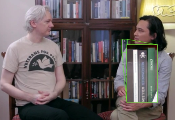 Julian Assange has a copy of Neuromancer by William Gibson