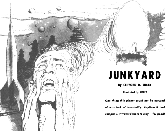 Junkyard by Clifford D. Simak - Illustrated by Don Sibley
