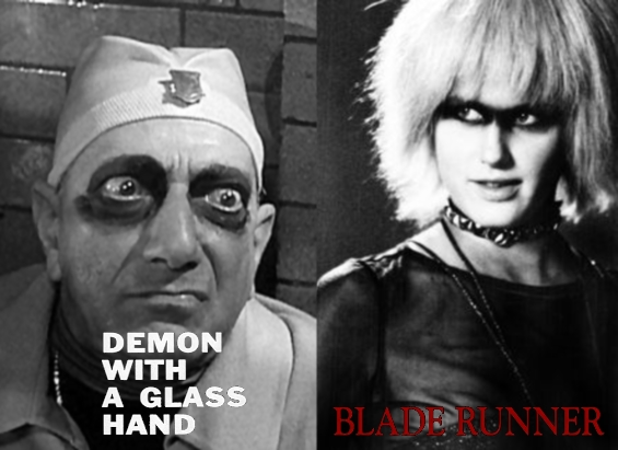 Kyben from Demon With A Glass Hand and Pris from Blade Runner