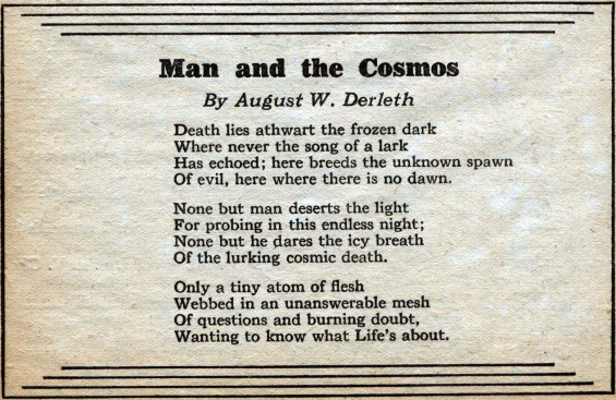 Man And The Cosmos by August W. Derleth