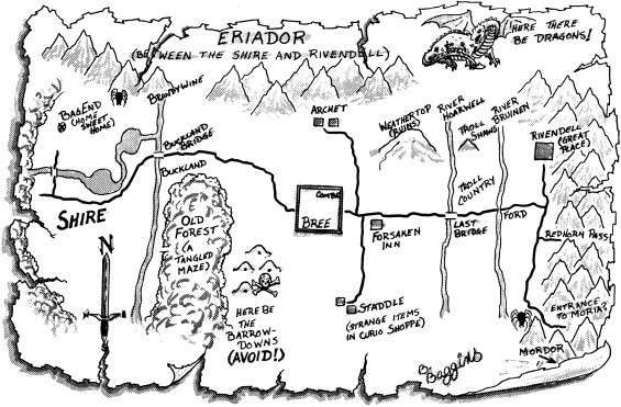 (Interplay Productions, 1990) - MAP OF ERIADOR