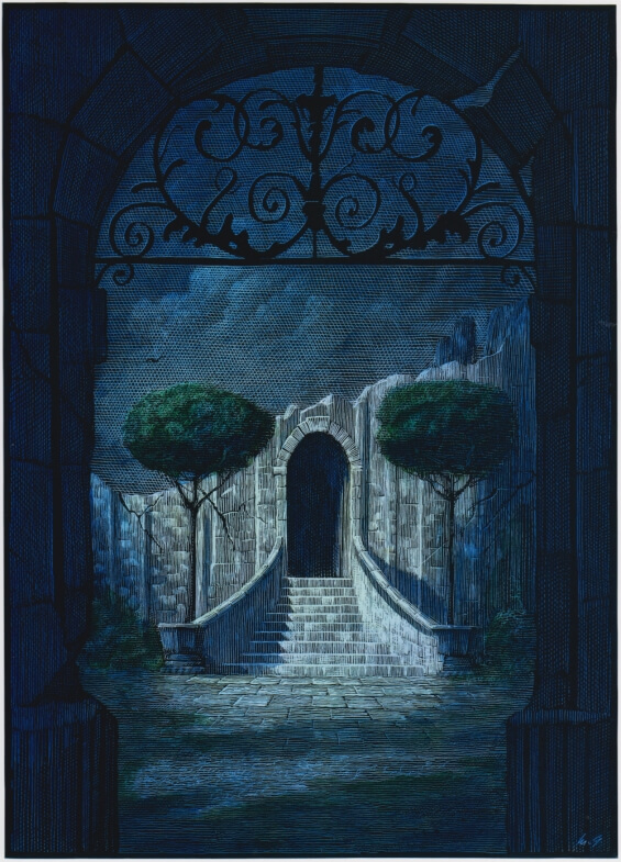 Mark Summers illustration for The Fall Of The House Of Usher by Edgar Allan Poe