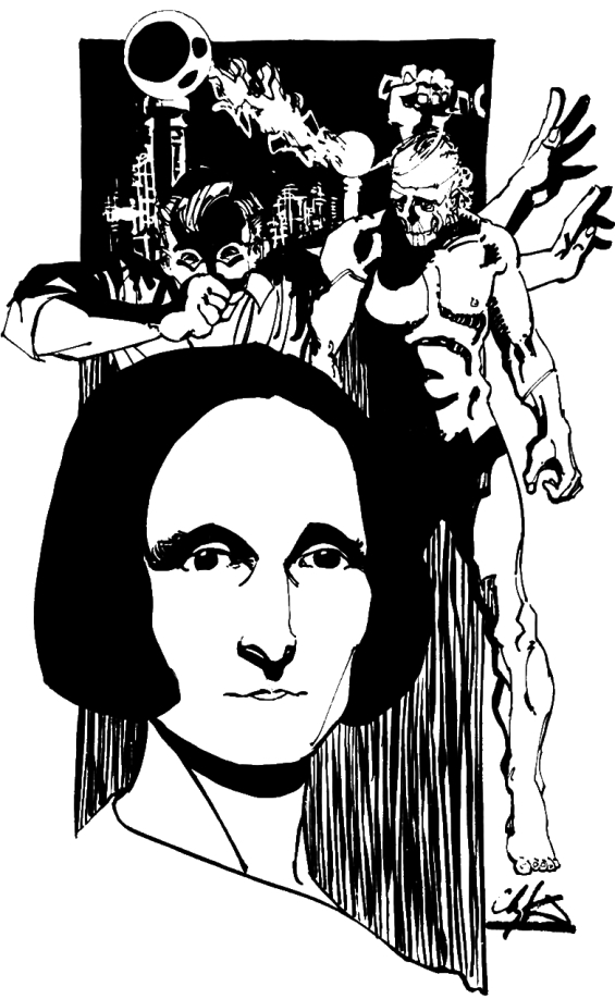 Mary Shelley and Frankenstein and the Creature