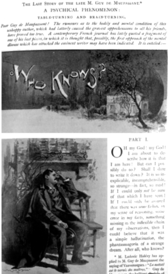 Pall Mall Magazine, June 1894 - Who Knows? by Guy de Maupassant - illustrated by Arthur Jule Goodman