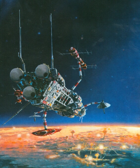 Peter Elson illustration of Doctor Bloodmoney by Philip K. Dick