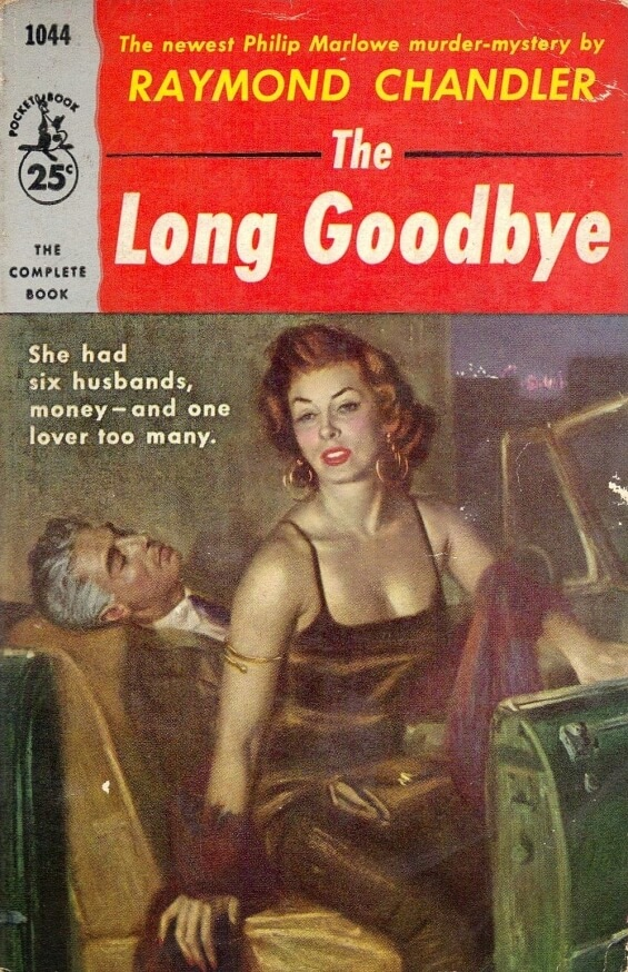 Pocket Books - The Long Goodbye by Raymond Chandler - Illustrated by Tom Dunn