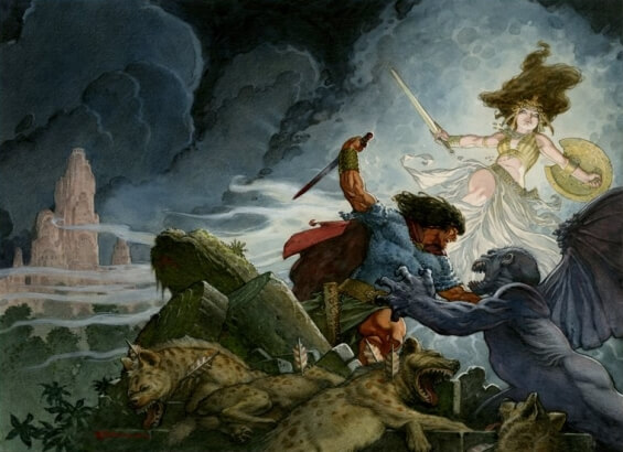 Queen Of The Black Coast by Robert E. Howard - illustration by Mark Schultz