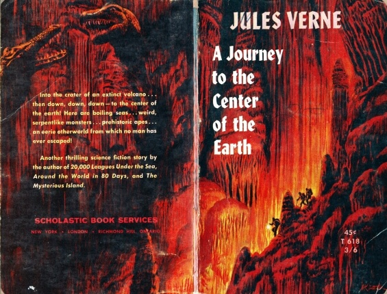 Scholastic - A Journey To The Center Of The Earth by Jules Verne - cover art by Mort Kuntsler