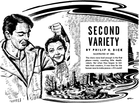 Second Variety by Philip K. Dick - illustration by Ebel