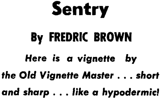 Sentry by Fredric Brown