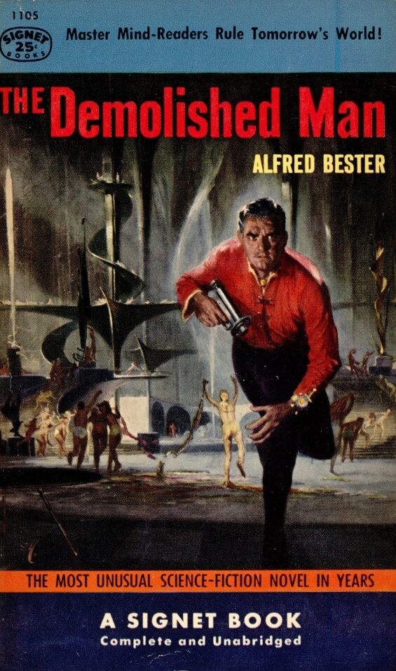 Signet Books - The Demolished Man by Alfred Bester