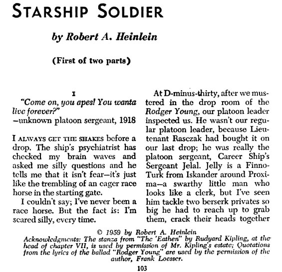 Starship Solider by Robert A. Heinlein