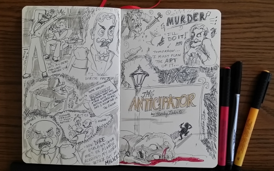 The Anticipator by Morley Roberts- illustrated by Samantha Wikan
