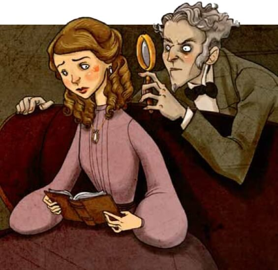 The Birthmark by Nathaniel Hawthorne - illustration by Lisa K. Weber