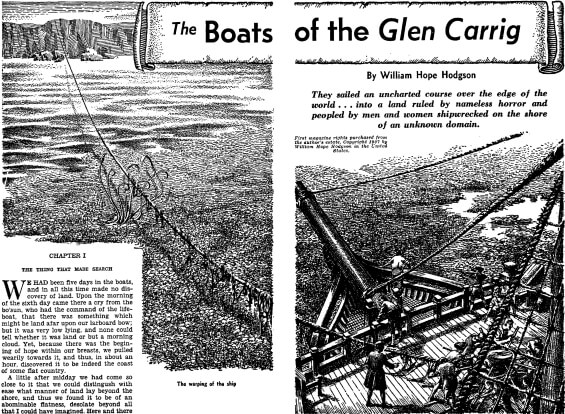 The Boats Of The Glen Carrig - illustration by Lawrence Sterne Stevens