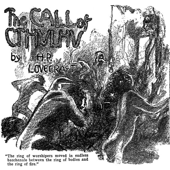 The Call Of Cthulhu by H.P. Lovecraft - illustration from Weird Tales