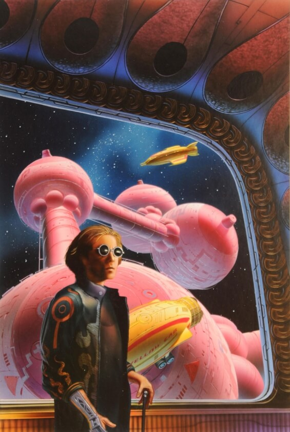 The Crack In Space by Philip K. Dick - illustration by Chris Moore