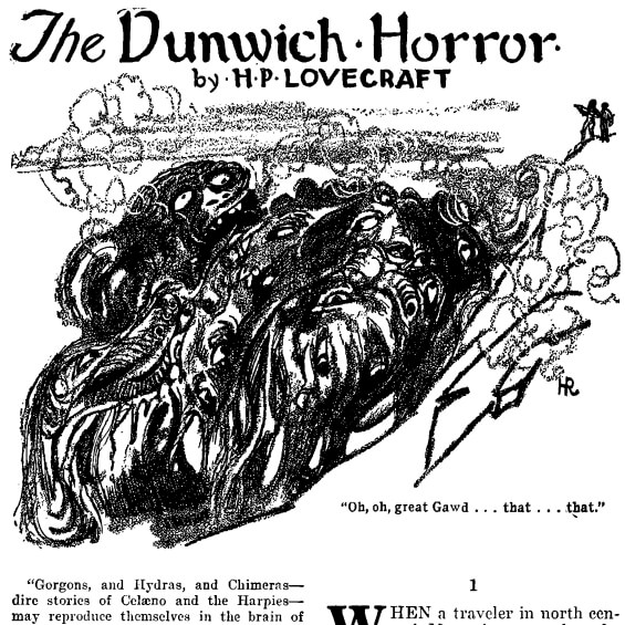 The Dunwich Horror by H.P. Lovecraft - illustrated by Hugh Rankin