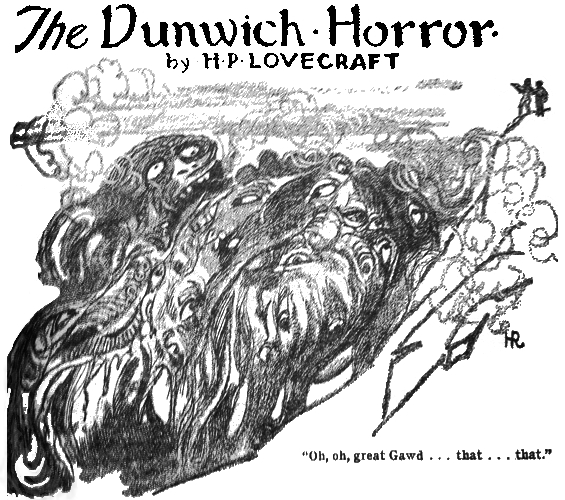 The Dunwich Horror - illustration by Hugh Rankin