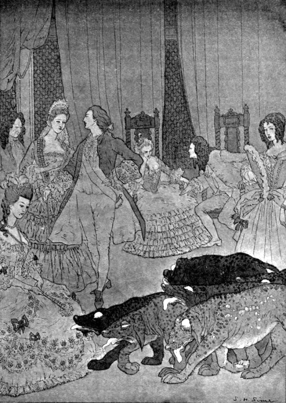 "The Ghosts by Lord Dunsany - illustrated by Sidney Sime - ""A Herd Of Black Creatures"""