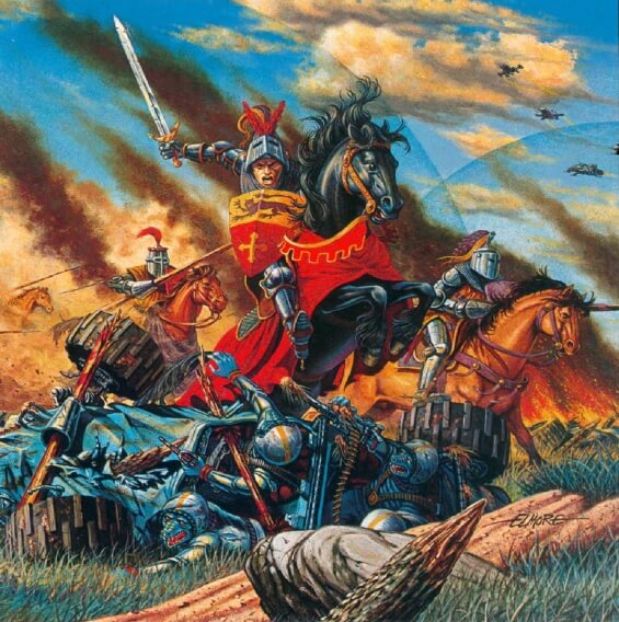 The High Crusade - illustration by Larry Elmore