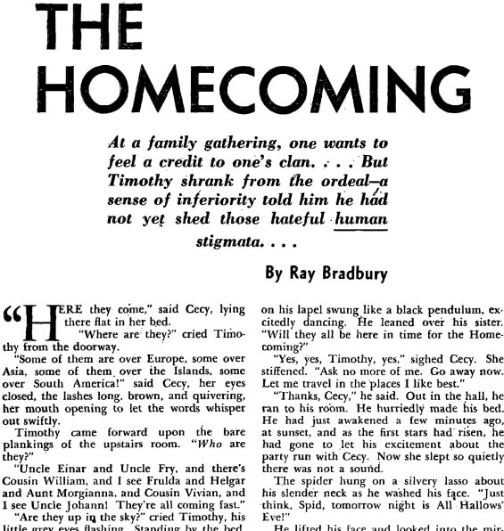 The Homecoming by Ray Bradbury