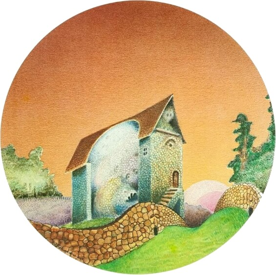 The House On The Borderland - illustration by Peter Manesis