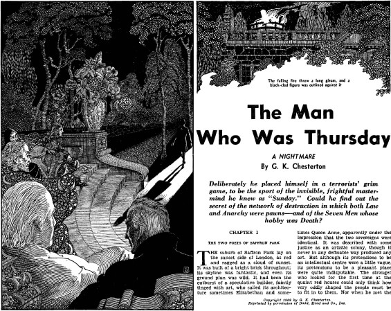 The Man Who Was Thursday by G.K. Chesterton from FAMOUS FANTASTIC MYSTERIES