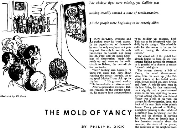 The Mold Of Yancy by Philip K. Dick - IF: Worlds Of Science Fiction, August 1955