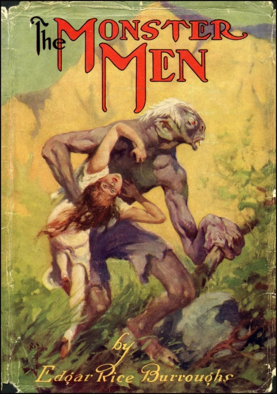 The Monster Men by Edgar Rice Burroughs - dust jacket