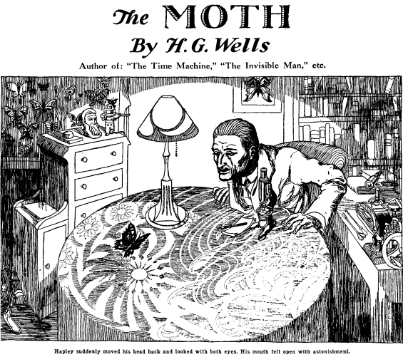 The Moth by H.G. Wells - illustration by R. E. Lawlor