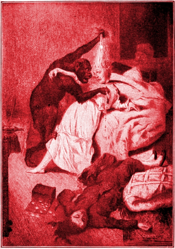 The Murders In The Rue Morgue - etching by Vierge
