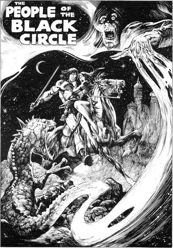 The People Of The Black Circle - illustration by John Buscema and Alfredo Alcala