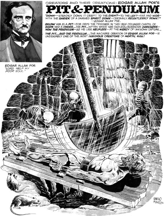 The Pit And The Pendulum by Edgar Allan Poe from Psycho, Issue 7