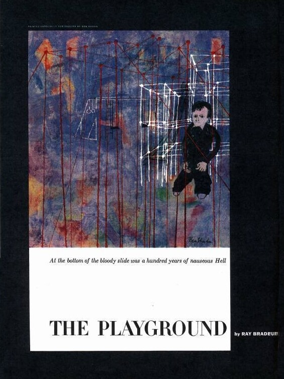The Playground by Ray Bradbury - illustration from Esquire, October 1953