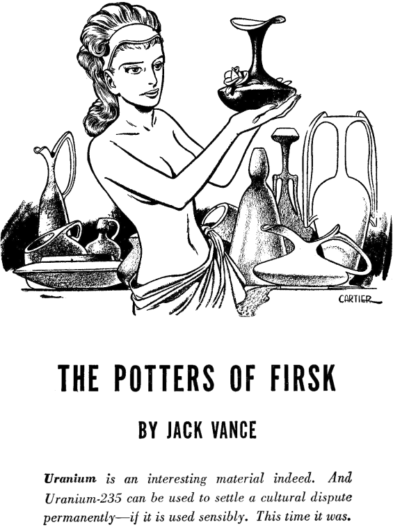 The Potters Of Firsk - illustration by Edd Cartier
