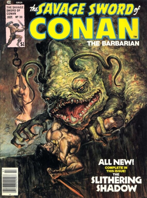 The Savage Sword Of Conan issue 20 - THE SLITHERING SHADOW