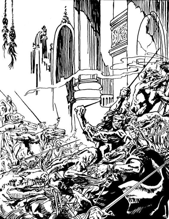 The Shadow Kingdom by Robert E. Howard - illustration by Roy Krenkel