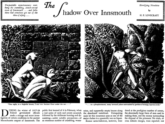 The Shadow Over Innsmouth - illustration by Hannes Bok