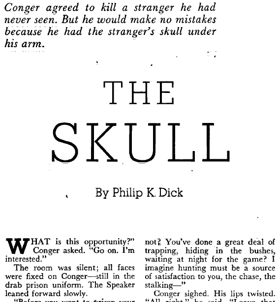The Skull by Philip K. Dick