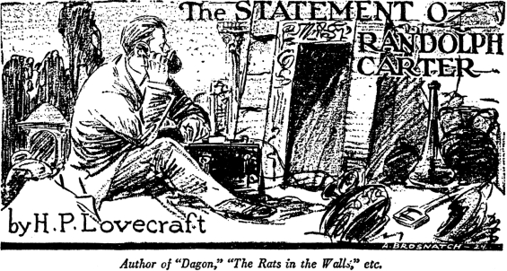 The Statement Of Randolph Carter by H.P. Lovecraft - illustration by Andrew Brosnatch
