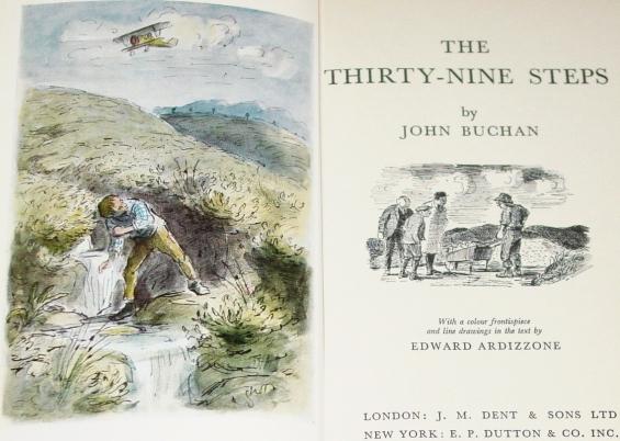 The Thirty-Nine Steps by John Buchan - illustrations by Edward Ardizzone