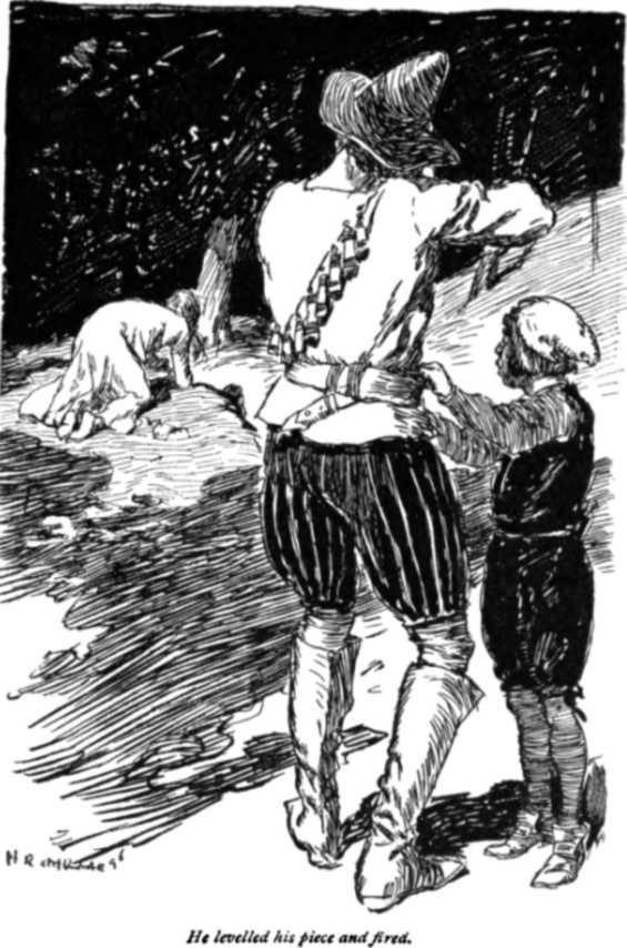 The White Wolf Of The Hartz Mountains -illustration by H.R. Millar