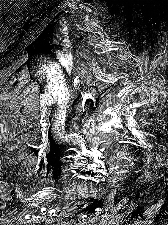 The Worm Fafnir illustrated by Lancelot Speed