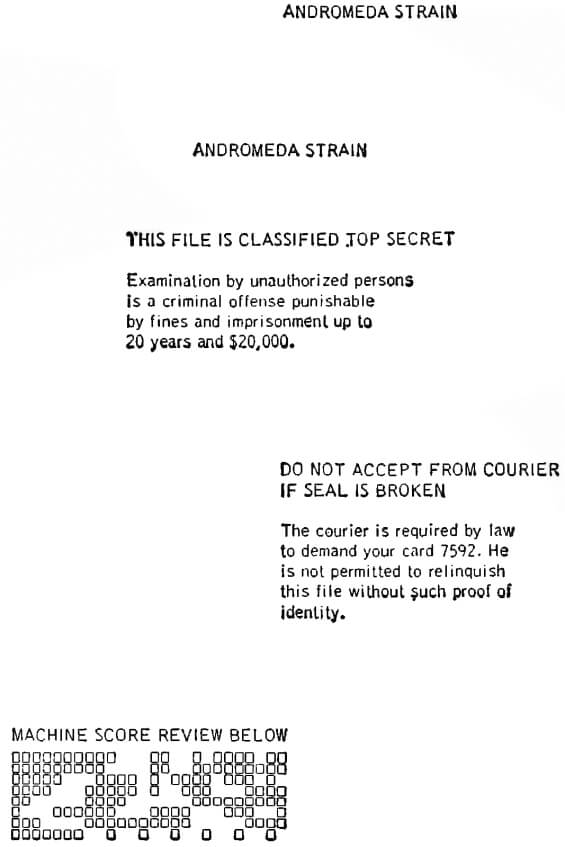 title page for The Andromeda Strain