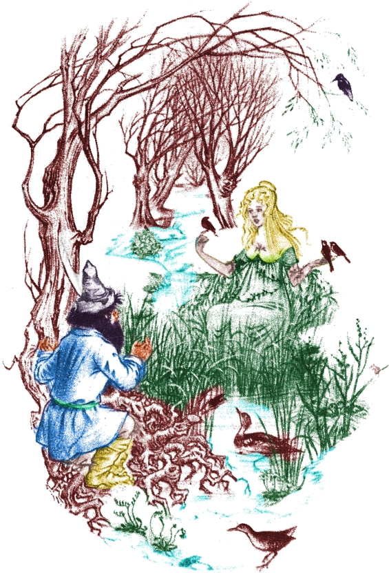 Tom And Goldberry - illustration by Pauline Baynes