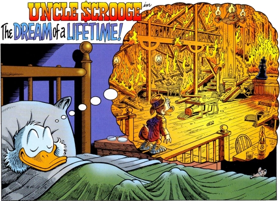 Uncle Scrooge in The Dream Of A Lifetime